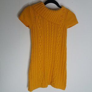Cato Girls Size 12/14 Yellow Short Sleeve Sweater